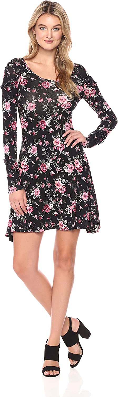 Freshman 1996 Womens Knit Ruffle Dress Dress