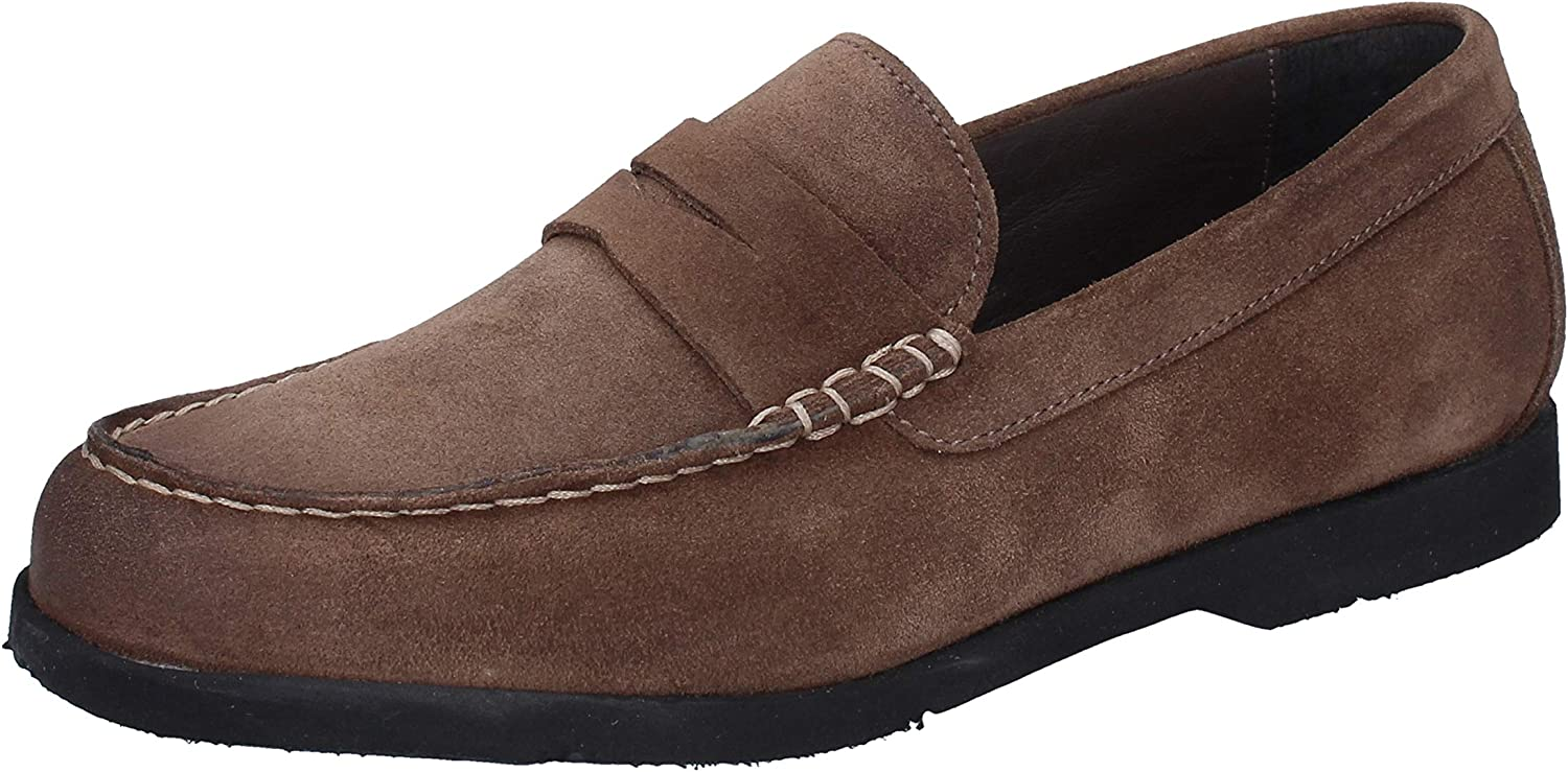 J. HOLBENS Loafers-shoes Mens Suede Brown