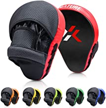 Xnature Essential Curved Boxing MMA Punching Mitts Boxing Pads w/Gift Box Hook & Jab Pads MMA Target Focus Punching Mitts ...