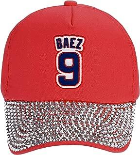 Javier Baez Hat - Chicago Baseball #9 Javy Adjustable Womens Cap (Red Studded)