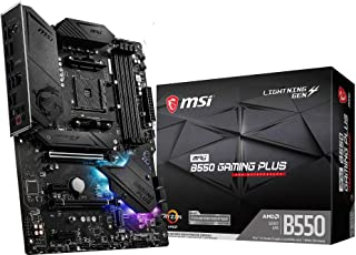 MSI MPG B550 GAMING PLUS - Placa Base Performance Gaming (AMD AM4 DDR4 M.2 USB 3.2 Gen 2 HDMI ATX), AMD Ryzen 5000 Series ...