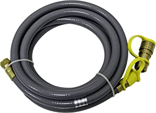 Hiland NG-Hose Natural Gas Hose, Quick Connect, 12 Feet, Quick Disconnect, Suitable for Low Pressure Proane