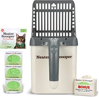 NEATER PET BRANDS - Neater Scooper and 60 Count Refill Bag Bundle - Cat Litter Sifter Scoop System with Extra Waste Bags