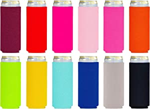Slim Beer Coozies for Cans Cheers Btches 12oz Tall Skinny Can Coozie Insulated Stainless Steel Slim Can Cooler Insulator Hard Seltzer Can Coozie for White Claw and Truly Metal Holder Coolers