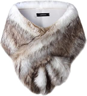 fur shrug for wedding dress
