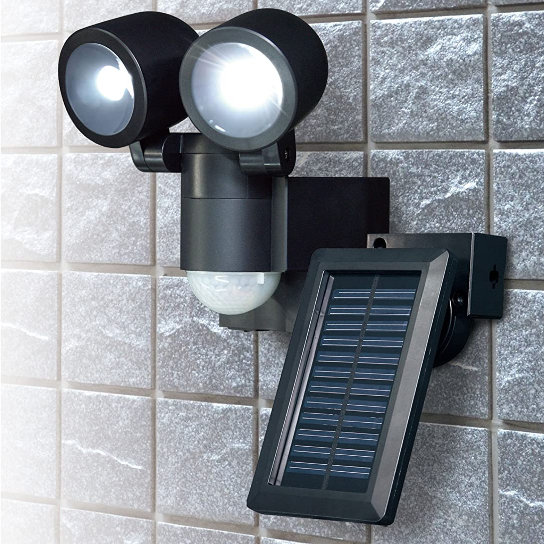 ジョリーギャング緊張ELPA 朝日電器 ソーラーLEDセンサーライト2灯 ESL-N102SL(BK) ESL-N102SL(BK)