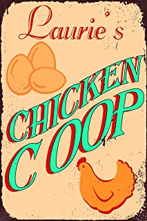 Ditooms Personalized Chicken Coop Custom Metal Sign Aluminum Vintage Outdoor Signs