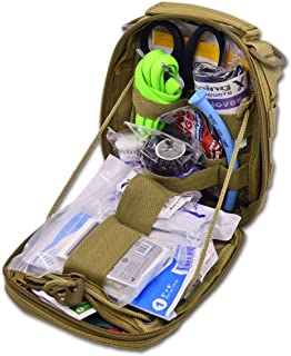 Lightning X Gunshot Trauma/Hemorrhage Control Kit in MOLLE IFAK Pouch - TAN