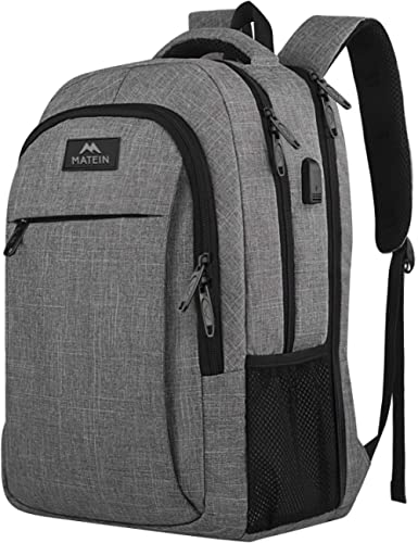 17 Inch Laptop Backpack, MATEIN TSA Large Backpack for Travel and Business with USB Charger Port, Water Resistant Big...