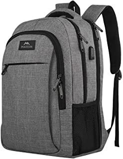 Travel laptop backpack,Business Anti Theft Slim Durable Laptops Backpack with USB charging Port,Water Resistant College School Computer Bag for Women & Men Fits (17 Inch, GREY)