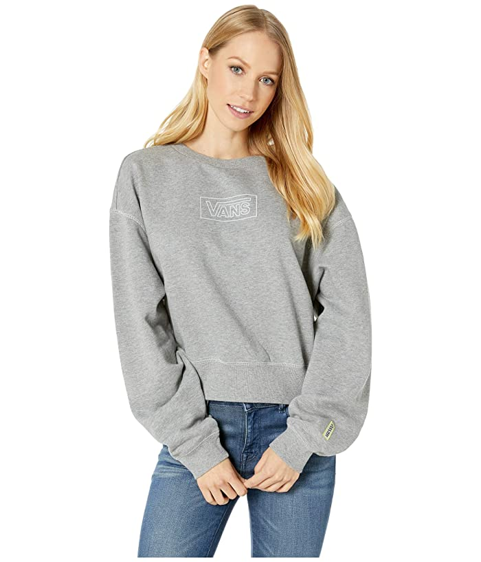 Vans  After Dark Crew (Grey Heather) Womens Clothing