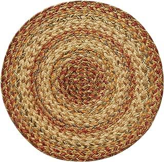 Homespice Trivet Round Jute Braided Rugs, 15-Inch, Harvest