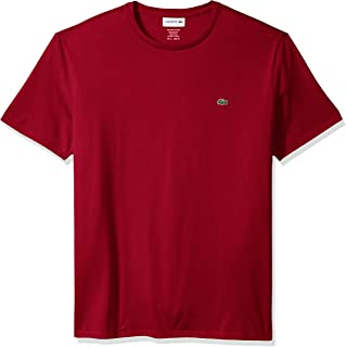 4251f5f5 Lacoste Men's Short Sleeve Jersey Pima Regular Fit Crewneck T-Shirt,  Th6709-51
