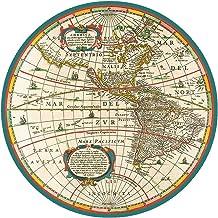 Caspari World Map Paper Dinner Plates - Pack of 8