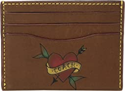 COACH - Card Case in Tattoo Sport Calf Leather