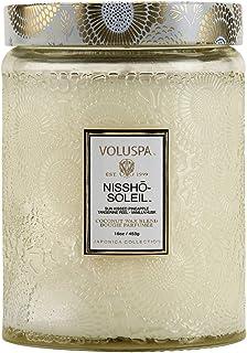 Voluspa Nissho Soleil Large Embossed Glass Jar Candle, 16 Ounces
