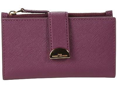Marc Jacobs Half Moon Medium Flat Wallet (Sweet Berry) Wallet Handbags