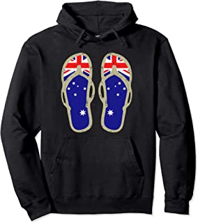 Australia Flag Hoodie | Beach Flip Flops Aussie design