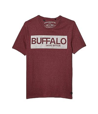 Buffalo David Bitton Nandore Short Sleeve Buffalo Logo Tee (Heather Coba) Men