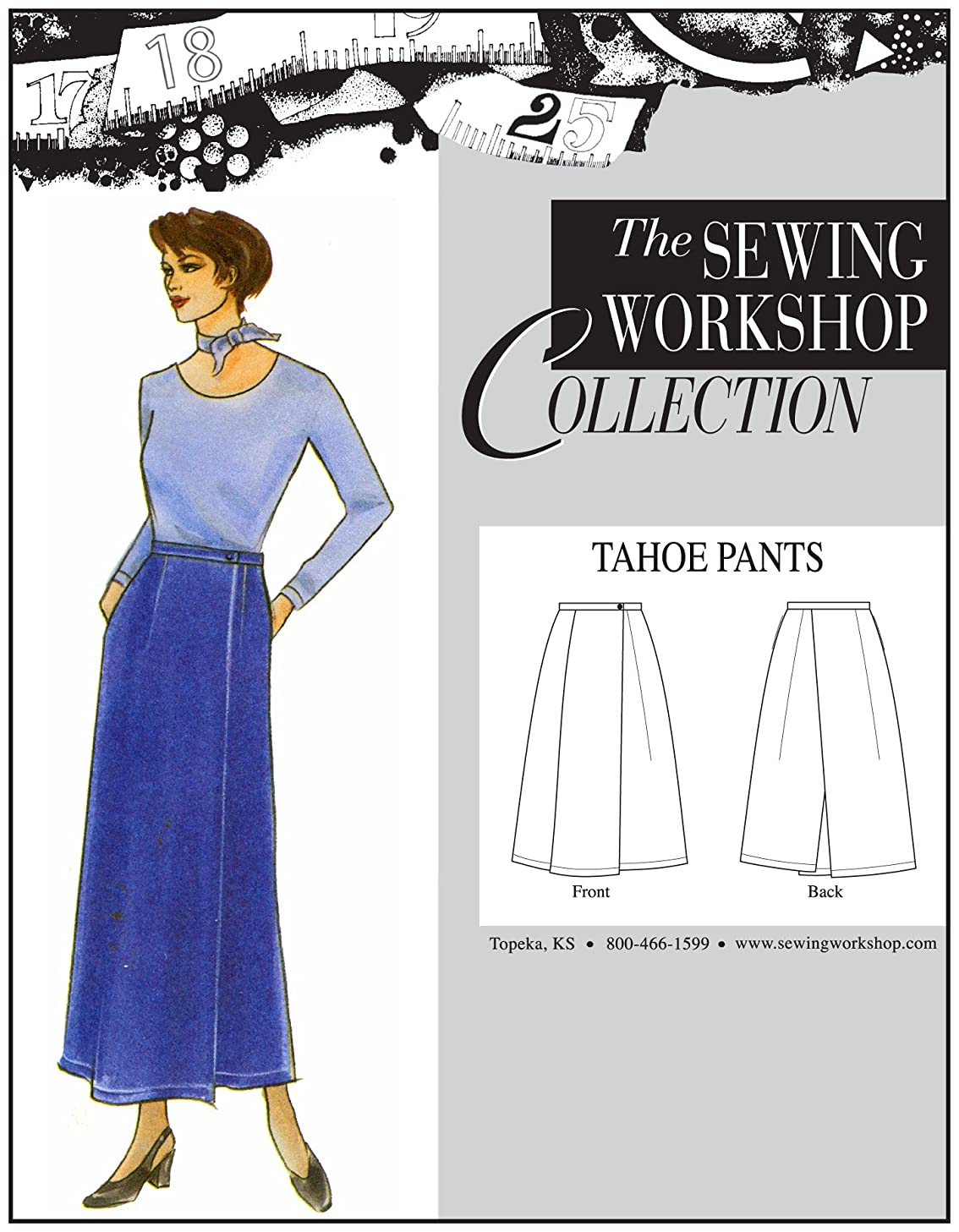 The Sewing Workshop Tahoe Pants Sewing Template, Multi-Size