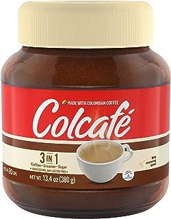 Colombian Coffee, Colcafé 3 in 1, Coffee, cream and sugar in a delicious cup. 13.4 Oz Jar