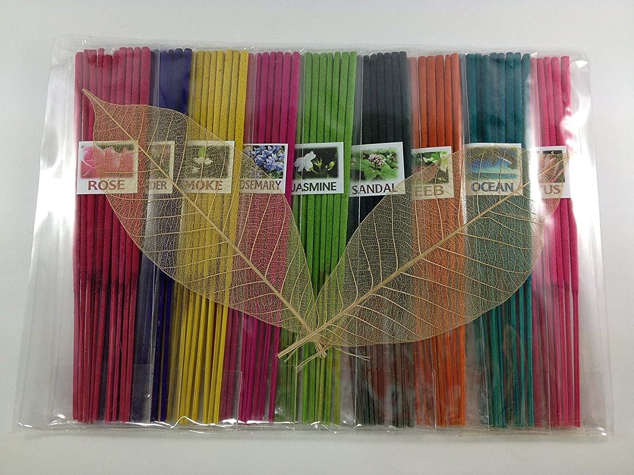 ビュッフェ評価可能十二Thai Incense Sticks with 9 Aroma Smell - Moke Rosemary Jasmine Sandal Lotus Ocean Rose Lavender Peeb.