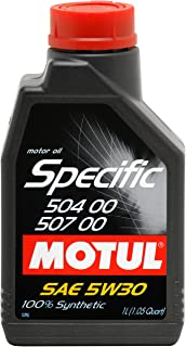 Motul 838711 5W-30 Synthetic Gasoline and Diesel Oil for EURO IV Engines - 1 Liter Bottle