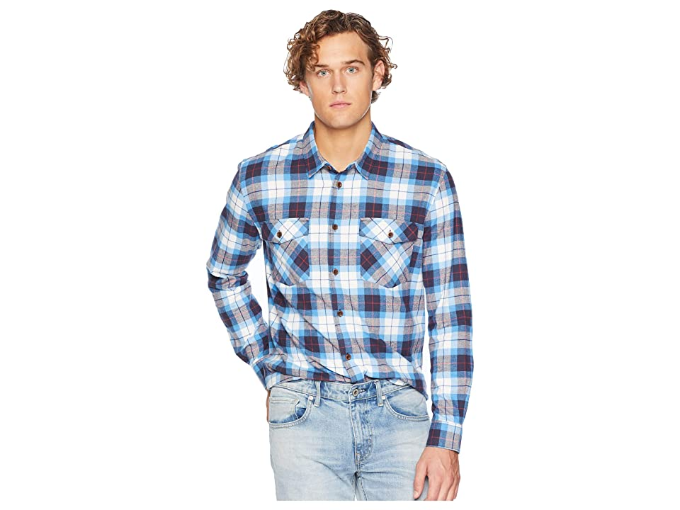 Quiksilver Waterman Wade Creek Long Sleeve Flannel Shirt (Parisian Night) Men