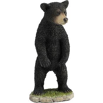 7.88 Inch Large Bear Decorative Statue Figurine Black Color