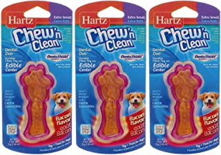 Hartz Tiny Dog Dental Duo Dog اسباب بازی خوراکی جویدن دسته کوچک موسیقی جاز [مجموعه 3]