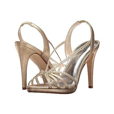 Caparros Galaxy (Gold Metallic Fabric) High Heels