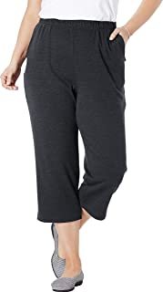 Woman Within Women's Plus Size Petite 7-Day Knit Capri