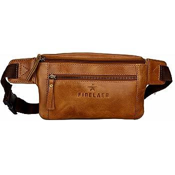 YPB5 Brown Vidlea Genuine Leather waist bag fanny pack Adjustable Belt strap Casual shoulder bag Hip Purse Pouch Outdoor Day bag