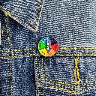 GloryMM Fuck Prize Wheel Enamel Pins Funny Lapel Badge Brooch for Women Girls Clothes Bags Decor