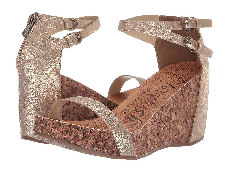 Blowfish Himmels (Gold Cosmic Metallic) Women's Wedge Shoes