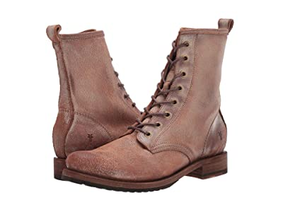 Frye Veronica Combat (Chocolate Waxed Vintage Suede) Women