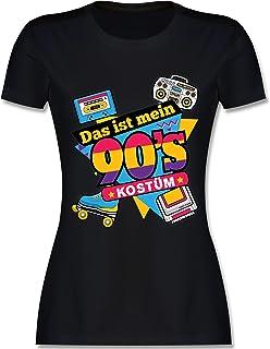 Karneval & Fasching - Das ist Mein 90er Jahre Kostüm - Damen Tshirt und Frauen T-Shirt