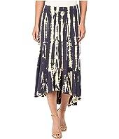 Mod-o-doc - Tie-Dye Rayon Spandex Jersey Tie-Dye Swing Hem Skirt
