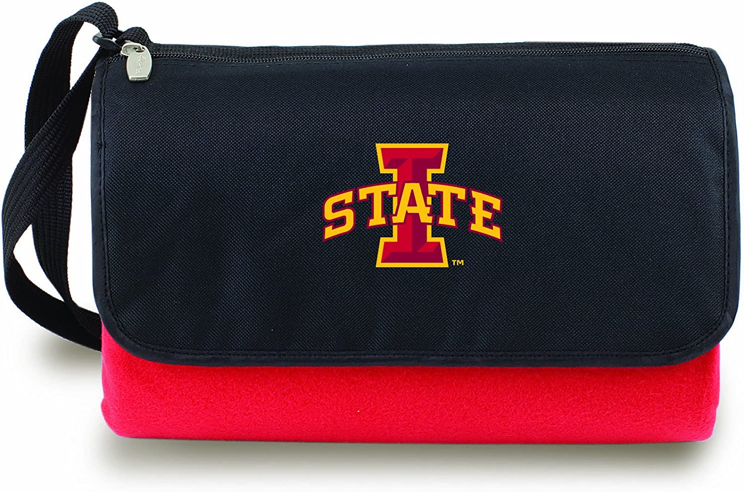 NCAA Iowa State Cyclones Outdoor Picnic Blanket Tote, Red