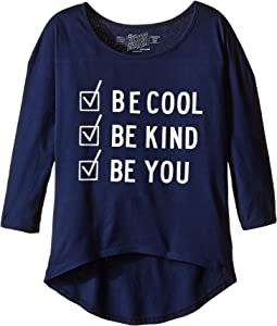 The Original Retro Brand Kids - Be Cool Be Kind Be You Dolman 3/4 Tee (Big Kids)