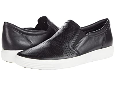 ECCO Soft 7 Perforated Slip-On (Black) Women