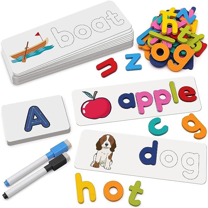 18 opinioni per Coogam See- Giocattolo per apprendimento ortografico, lettere in legno, colore