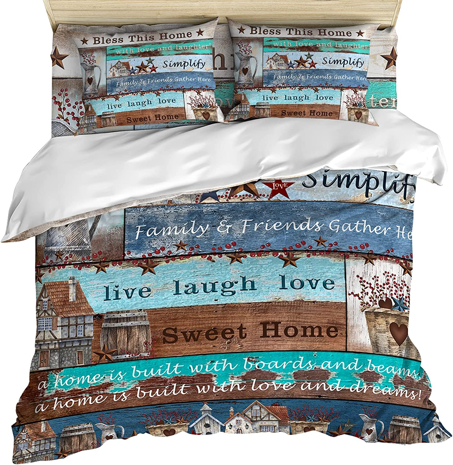 4 Piece Cozy Duvet 2021 autumn and winter new Cover Set Rustic Texas Size Complete Free Shipping Queen S American
