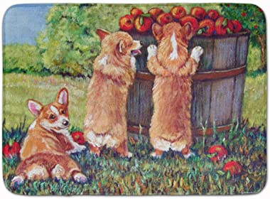 "Caroline's Treasures 7351RUG Apple Helper Corgis Floor Mat, 19"" x 27"", Multicolor"