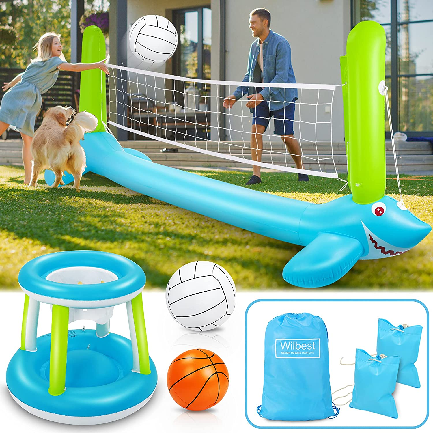 Wilbest Pool Genuine Free Free Shipping Cheap Bargain Gift Shipping Volleyball Set Float 120'' Larger Inflatable