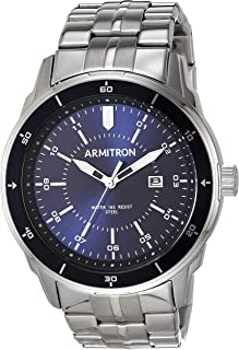 Armitron Men's Date Function Silver-Tone Bracelet Watch, 20/5428NVSV