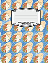 Burrito Comic Book Layouts Composition Book: Burritos Lover Mexican Food Funny 5x5 Graph Paper Composition Book for Math Science Engineering College ... Food for Thought Series) (Volume 4)