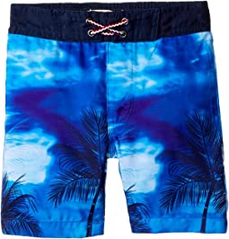 Palm Tree Print Swim Trunks (Toddler/Little Kids/Big Kids)