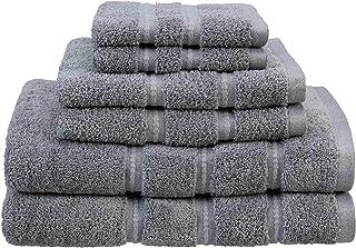Martex Color Solutions Cotton Bath Towel Set, 6 Piece, Gray