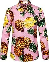 SIR7 Men's Floral Print Slim Fit Casual Button Down Long Sleeve Shirt